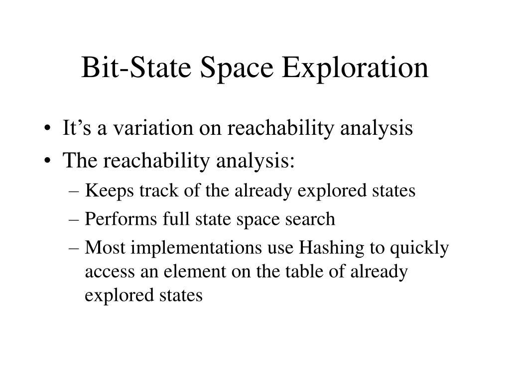 bit state space exploration l.