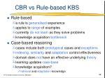 cbr vs rule based kbs
