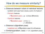 how do we measure similarity
