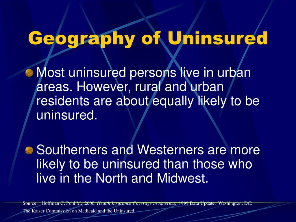 Geography of Uninsured