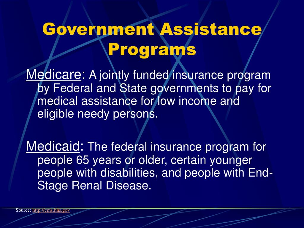 Government Assistance Programs