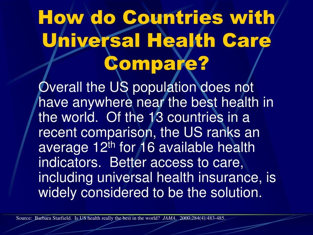 How do Countries with Universal Health Care Compare?
