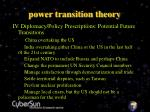 power transition theory15