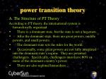 power transition theory5