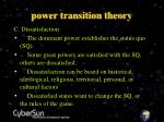 power transition theory7