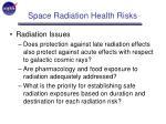 space radiation health risks14
