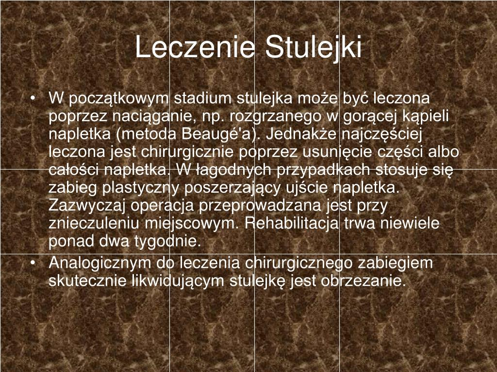Leczenie Stulejki