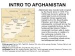 intro to afghanistan