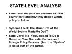 state level analysis