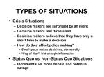 types of situations