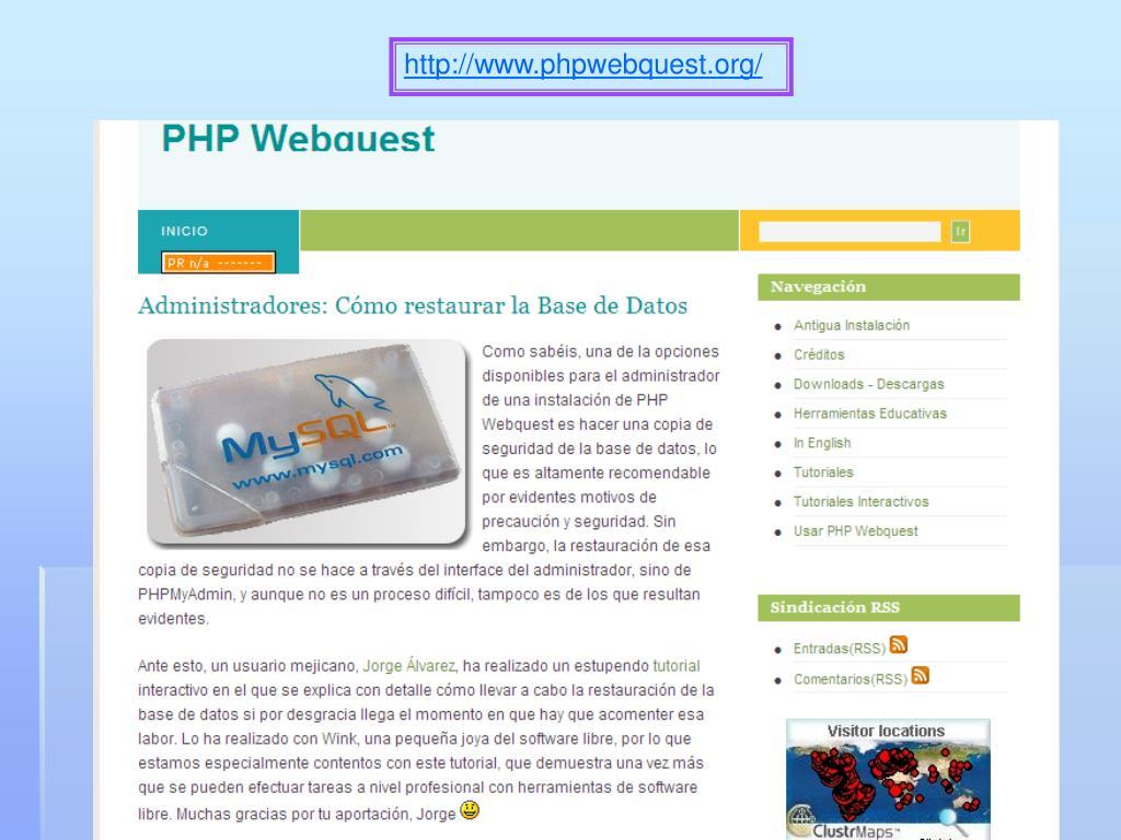 http://www.phpwebquest.org/