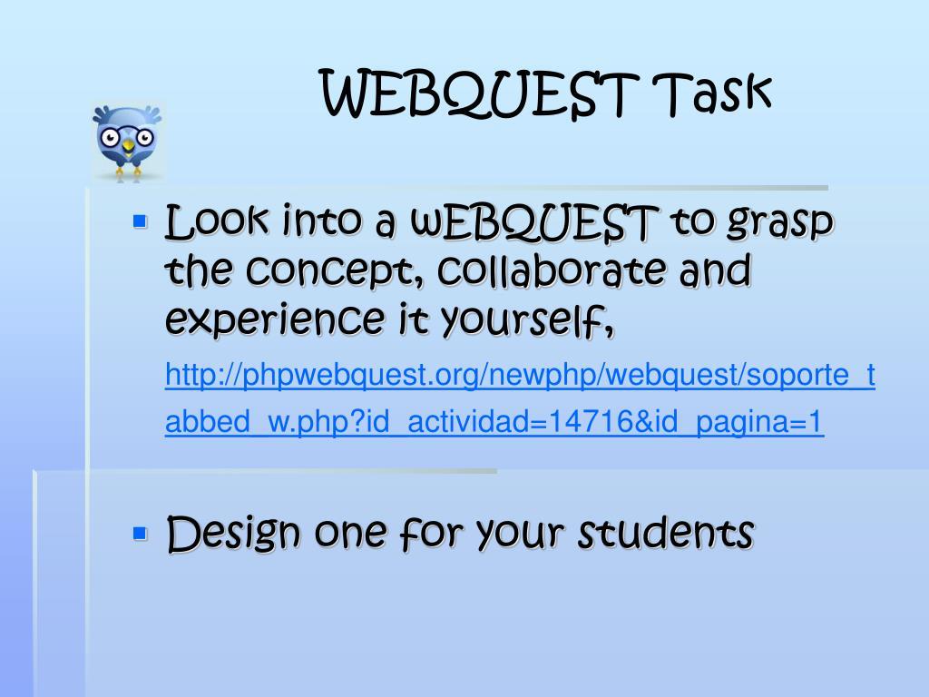 WEBQUEST Task