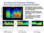 a fundamental predication challenge will a storm increase or decrease the belts