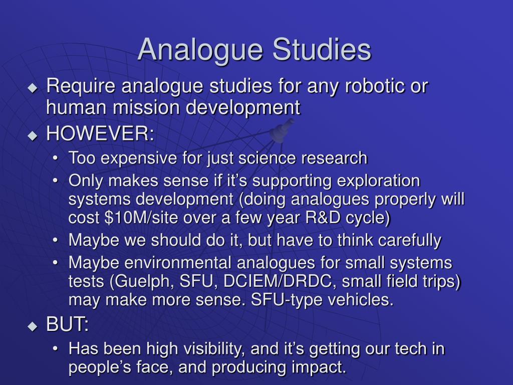 Analogue Studies