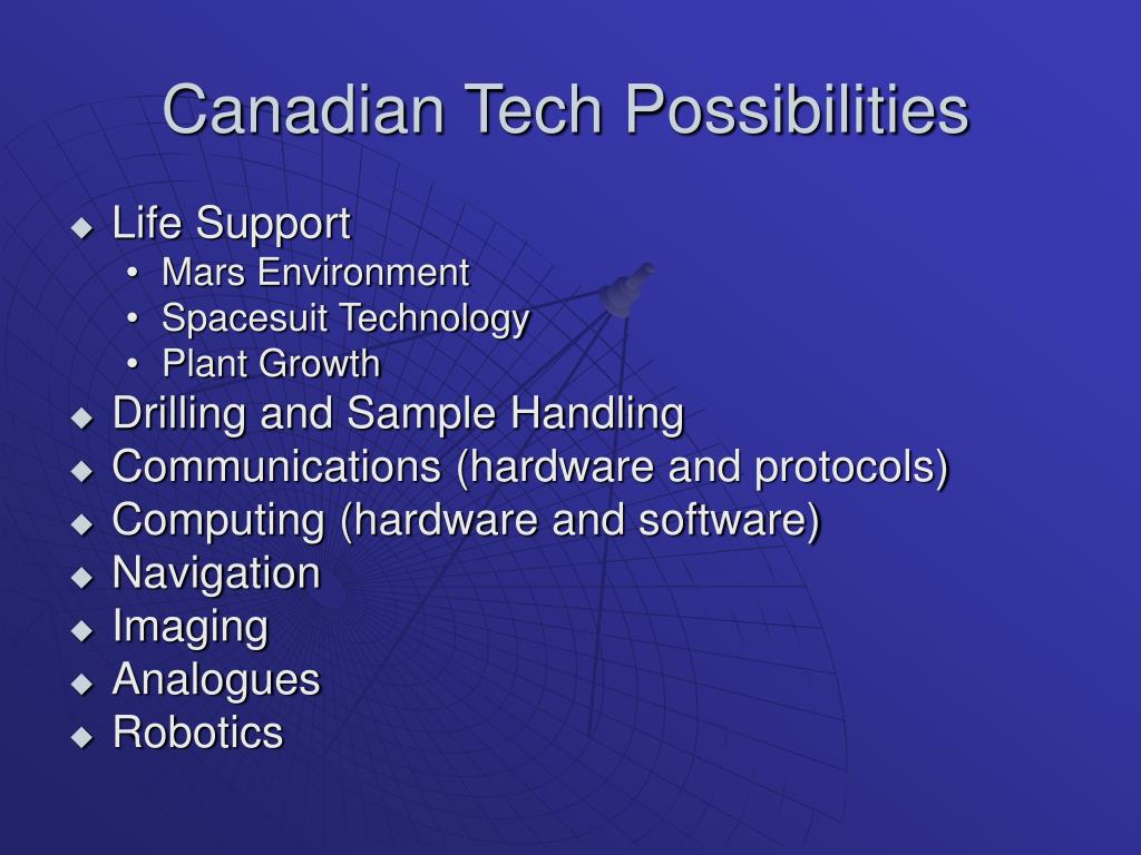 Canadian Tech Possibilities