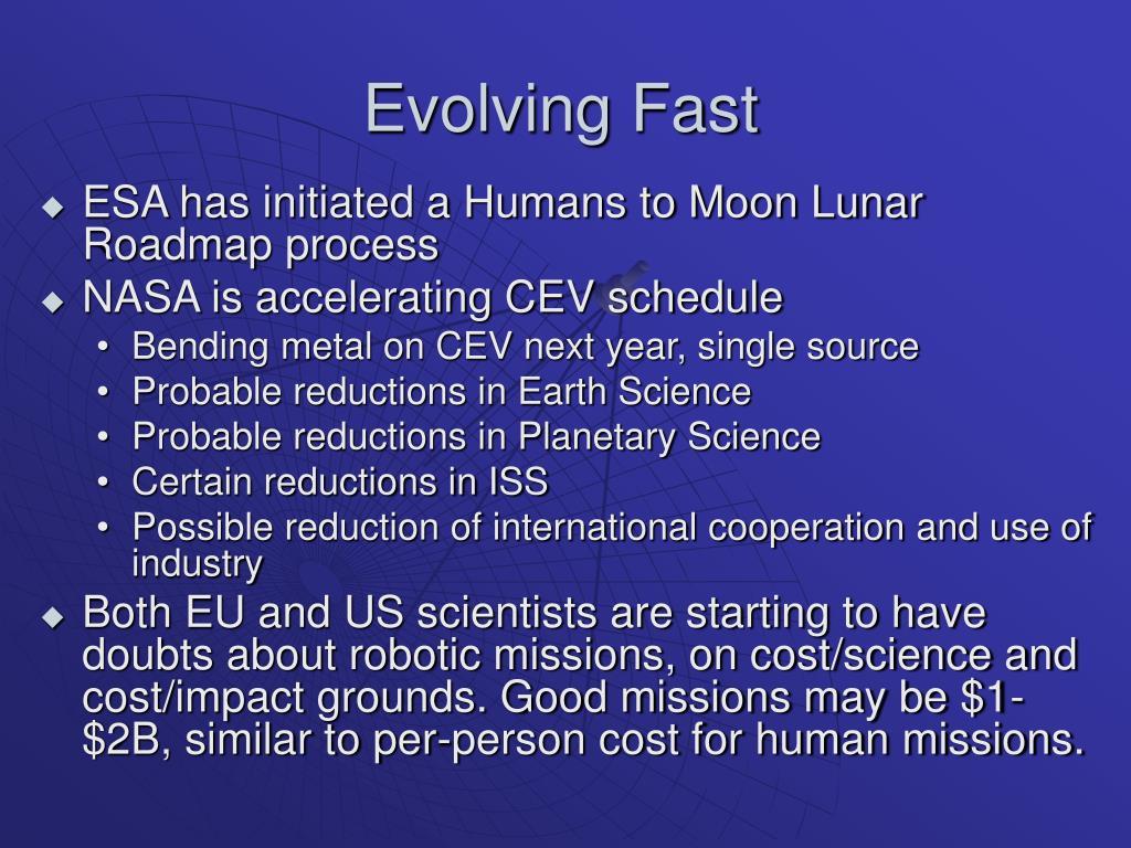 Evolving Fast