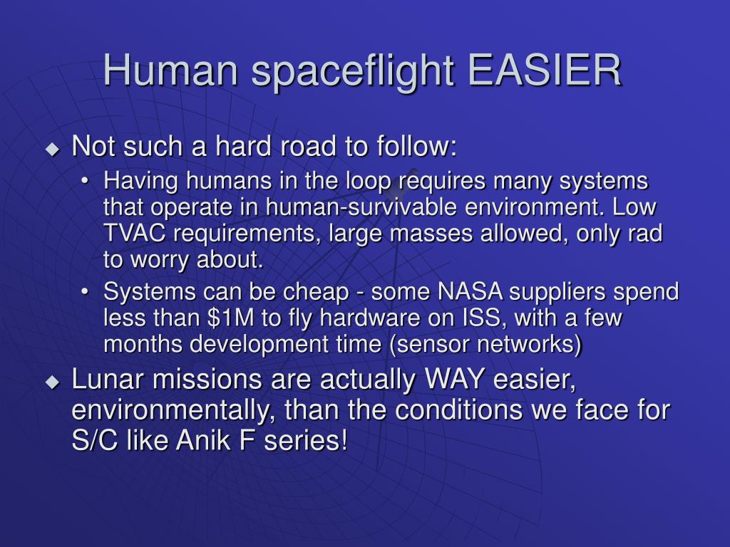 Human spaceflight EASIER