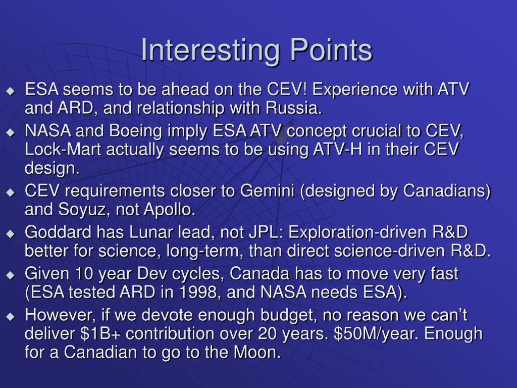 Interesting Points