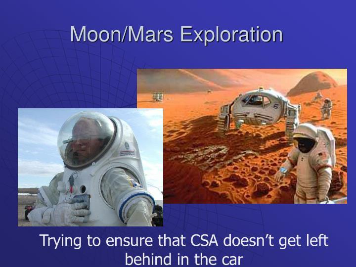 Moon mars exploration