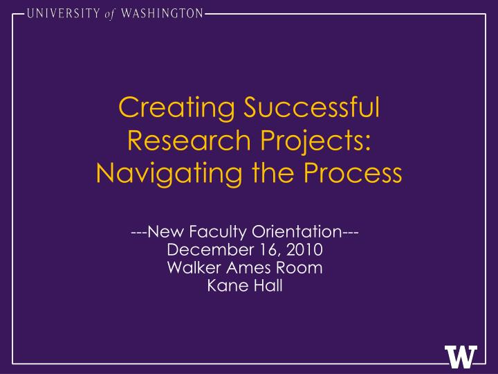 creating successful research projects navigating the process n.