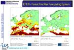 effis forest fire risk forecasting system