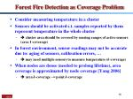 forest fire detection as coverage problem