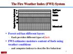 the fire weather index fwi system