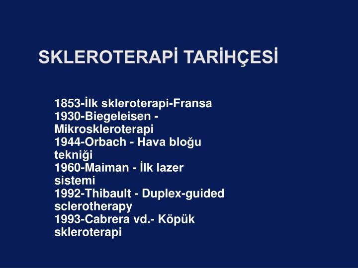 skleroterapİ Tarİhçesİ