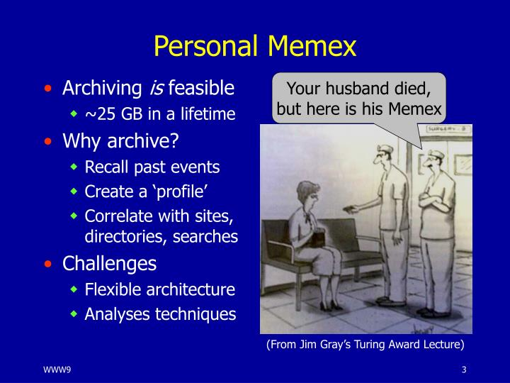 Personal memex