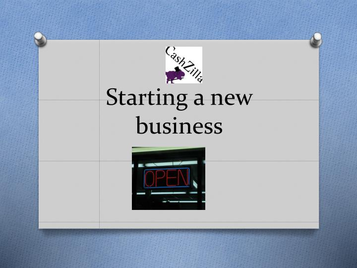 starting a new business n.