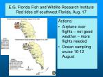 e g florida fish and wildlife research institute red tides off southwest florida aug 175