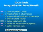 ioos goals integration for broad benefit