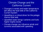 climate change and the california current