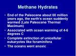 methane hydrates42