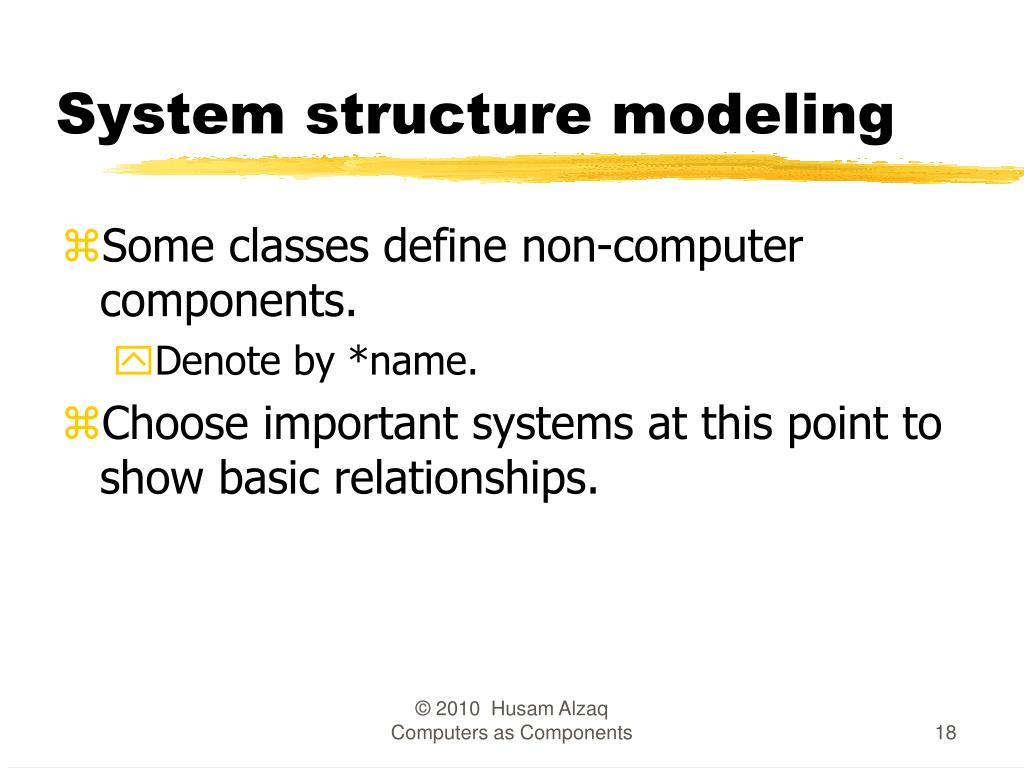 System structure modeling
