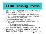ferc licensing process
