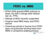 ferc vs mms