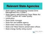 relevant state agencies