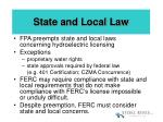state and local law