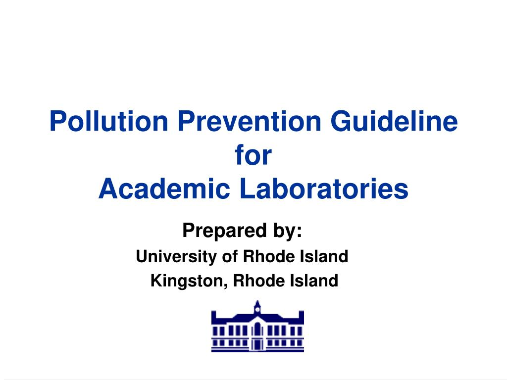 pollution prevention guideline for academic laboratories l.