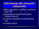 informacje dla chorych za czniki