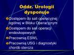 oddz urologii dysponuje