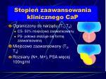 stopie zaawansowania klinicznego cap