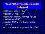 test psa p rostate s pecific a ntygen