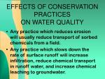 effects of conservation practices on water quality3