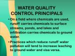 water quality control principals