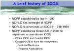 a brief history of ioos