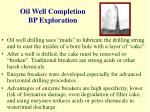 oil well completion bp exploration