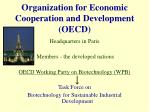 organization for economic cooperation and development oecd