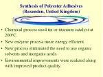 synthesis of polyester adhesives baxenden untied kingdom